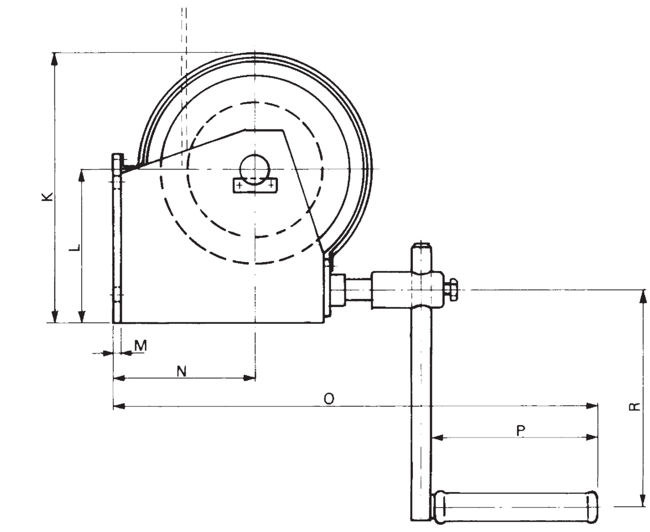 Hand rope winch dwg_2
